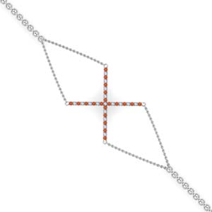 Geometrical Orange Topaz Bracelet