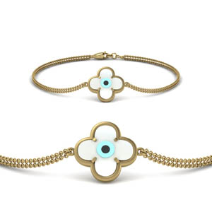 Unique Floral Eye Bracelet