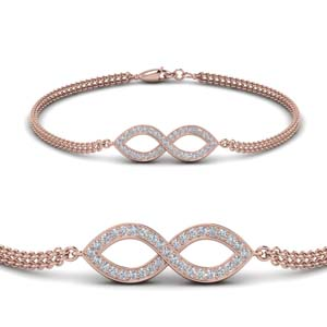 infinity style bracelet with diamonds