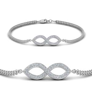 Diamond Infinity Twist Bracelet