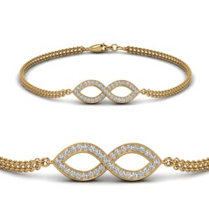 Twisted Diamond Chain Bracelet