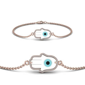 Hamsa Evil Eye Diamond Bracelet