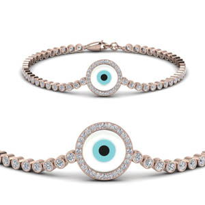 Circle Eye Diamond Bracelet