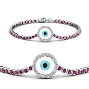 Evil Eye Bezel Set Bracelet