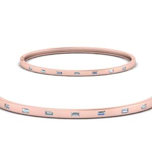 Baguette Diamond Thin Bracelet