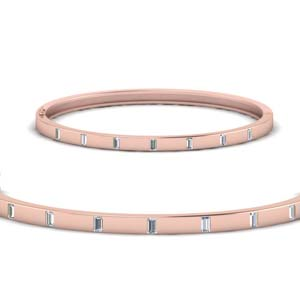 Thin Diamond Bangle Bracelet