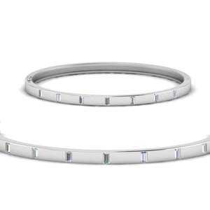 Baguette Diamond Station Bracelet