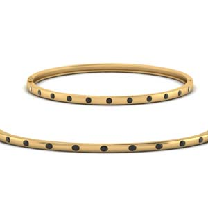 Black Diamond Station Bangle Bracelet