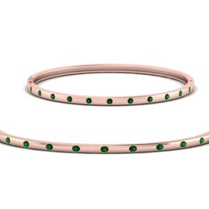 Emerald Station Bangle Bracelet