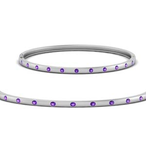 Purple Topaz Station Bracelet