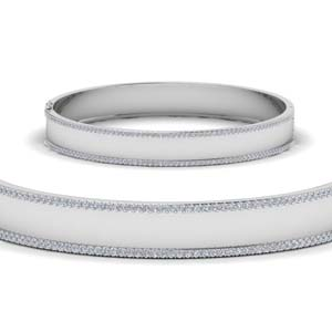 Bangle Bracelet With Diamond