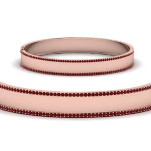 Bangle Bracelet With Ruby