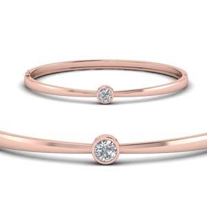 14K Rose Gold Bangle Bracelet