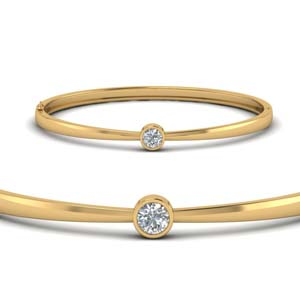 Solitaire Bangle Bracelet