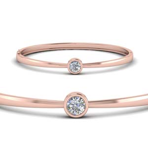 Bezel Set Solitaire Diamond Bracelet
