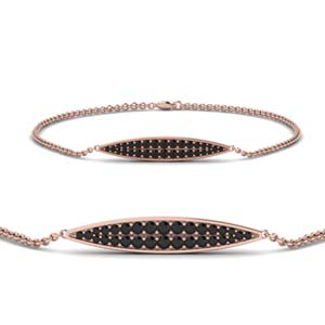 Pave Marquise Shaped Bracelet