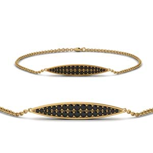 Yellow Gold Black Diamond Bracelet