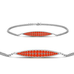 Orange Topaz Marquise Bracelet