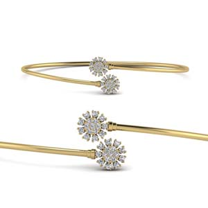 Flower Thin Bangle Bracelet