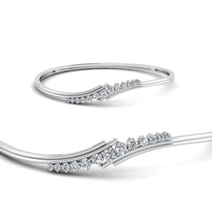 Thin Twist Diamond Bracelet