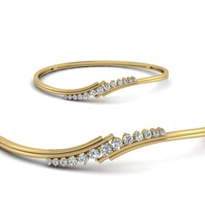 Twist Thin Diamond Bracelet