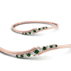 Twist Emerald Thin Bracelet