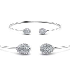 Pear Shaped Cluster Diamond Bracelet