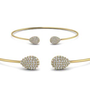 Cluster Diamond Bangle Bracelet