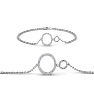 Sterling Silver Diamond Chain Bracelet
