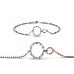 Open Circle Bracelet With Topaz
