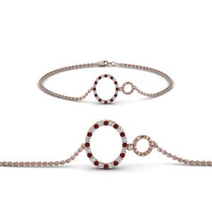 Ruby Rose Gold Bracelet
