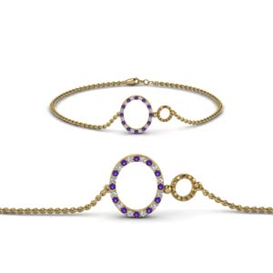 Purple Topaz Chain Bracelet