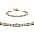 bolo classic design diamond bracelet in FDCT 227 1732SBANGLE2 NL YG