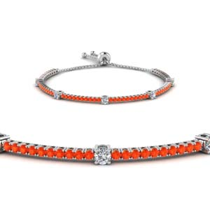 Classic Design Orange Topaz Bracelet