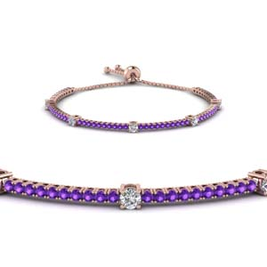 Rose Gold Purple Topaz Bracelet