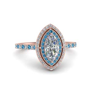 Pave Double Halo Topaz Ring