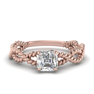 Infinity Rope Asscher Diamond Ring