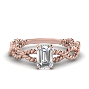Rope Design Solitaire Ring
