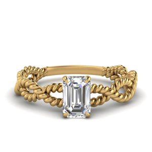 Infinity Rope Emerald Cut Ring