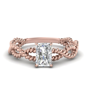 Infinity Twist Radiant Diamond Ring