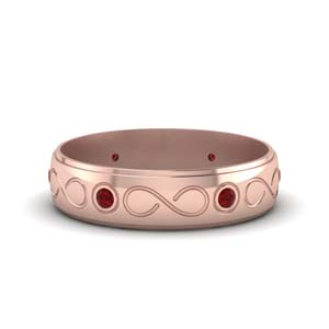 Ruby Infinity Mens Wedding Band