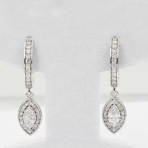 1 Ct. Diamond Halo Hoop Earring