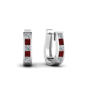 huggie-diamond-hoop-earring-with-ruby-in-FDEAR1018GRUDR-WG
