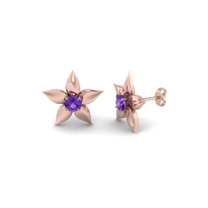 Purple Topaz Daisy Earring