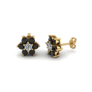 7 Stone Black Diamond Earring