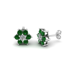 Beautiful Emerald Stud Earring