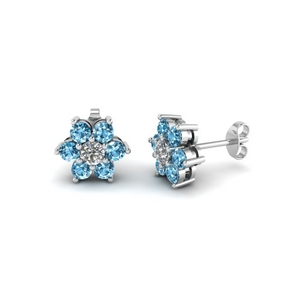 Stud Earring With Topaz