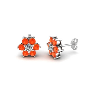 Daisy Orange Topaz Earring
