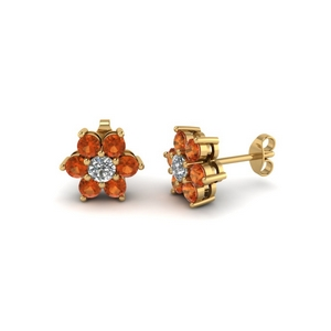 1 Ct. Floral Women Earring