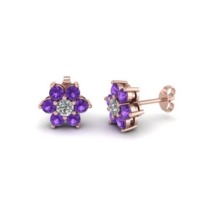 Rose Gold Flower Earring